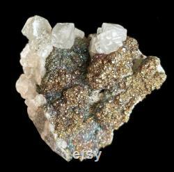 Rainbow Chalcopyrite and Calcite, Raw Crystal, Mineral Specimen, Kaiwu Mine, Hezhang County, Bijie, Guizhou, China