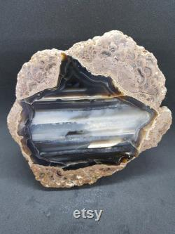 Rare Seaside Picture Agate, Landscape, Great Patterns, Raw Crystal, High-Quality Agate, Crystal Therapy, Natural Untreated