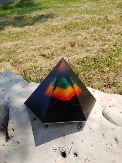 Rasta Golden Ratio Hexagonal Orgonite Pyramid