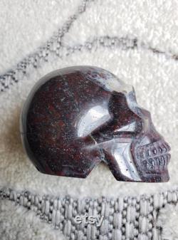 Red Pyrite Skull