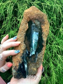 SOLD OUT Reserved for Deborah Payment 8 of 20 Vivianite Crystal on Matrix Large 4 Lb. 9 oz. Cluster 8 Long -