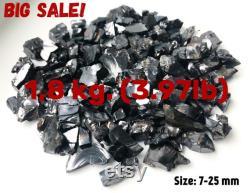 Shungite Elite Noble 1800 gr (3.97 lbs), 7-25mm. each stones, 5G EMF Against Protection Purification Water Gemstones Karelia