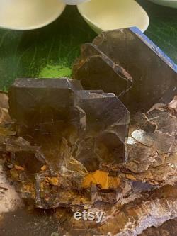 Thick Barite Crystal Cluster in Matrix Mineral Specimen BAR16