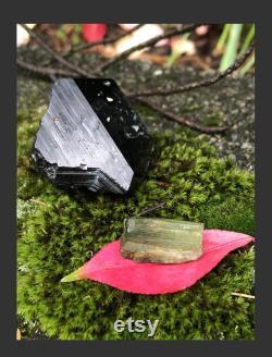 Tourmaline Crystal Set, Green and Black Tourmaline Set, Crystal Healing Pack, Green Tourmaline, Black Tourmaline, Mercedes Benz Tourmaline