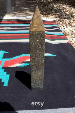 Umber orgonite obelisk for EMF and 5g Protection. Perfect piece to amplify your Alter. Create a very powerful energy grid at your home.