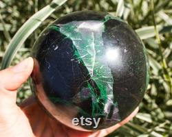 Uvarovite Sphere 101 mm Garnet Ball Uvarovite Crystal Healing Sphere S027 Rare Crystal Sphere by UralMountainsFinds