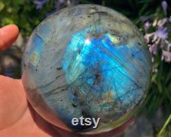 XL Labradorite Sphere, Polished Labradorite Crystal Ball, Healing Crystal, LS09